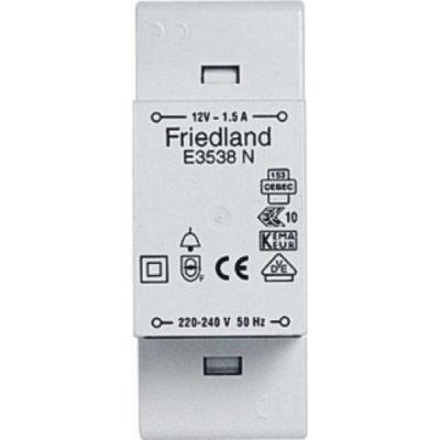 Friedland Wisselstroom beltransformator 230V 12V 1,5A